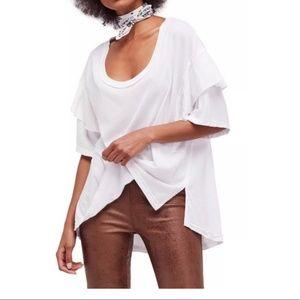 NWT Free People Abracadabra White Shirt